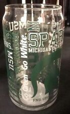 Michigan State MSU 16oz NCAA Fan Spirit Grafitti Drinking Glass Can *Quantity
