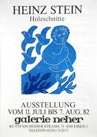Heinz Stein: Holzschnitte. Galerie Neher. 1982. Signierter O.-Farbholzschnitt.