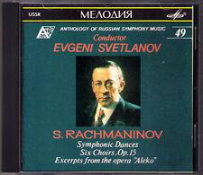 Evgeny Svetlanov: Rachmaninov Symphonic Dance Choirs Aleko melodeya USSR CD