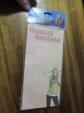 "NEW in pkg DISNEY Hannah Montana magnetic memo pad 80 sheets 4""x8""  notepad"