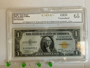 1934 $1 North Africa Note FR2306 Julian/Morgenthau - Uncirculated - Sealed