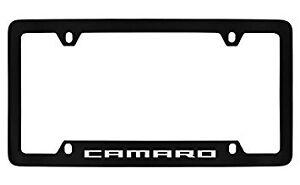 Chevrolet Camaro Black Metal license Plate Frame Holder 4 Hole