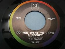 "Beatles Do you want to know a secret/Thank you girl 7"" 45 NM VJ587 1964"