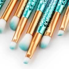NEW 11Pcs Set Mermaid Beauty Makeup Brushes Eyebrow Eyeshadow Soft Brush