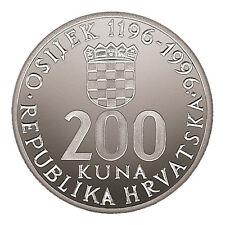 200 Kuna 1196-1996,  800th Anniversary of the City of Osijek, silver coin, RRR