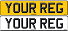 3D Pair Standard Registration Number Plates Car Van Trailer Caravan