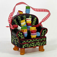 """Mary Engelbreit Life Is Just A Chair Of Bowlies 4"""" Ornament 119684 Mib"""