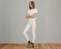 Levi's 27 x 32 Womens Ivory Made & Crafted Empire High Rise Skinny Denim Jeans