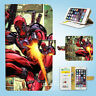 Deadpool hero Wallet Case Cover Samsung Galaxy S3 4 5 6 7 8 Edge Note Plus 050