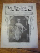 LE GAULOIS DU DIMANCHE.13-14 MARS 1909.N°65.PORTRAIT MELLE H.../PRESIDENT TAFT