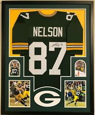 FRAMED GREEN BAY PACKERS JORDY NELSON AUTOGRAPHED SIGNED JERSEY BECKETT COA
