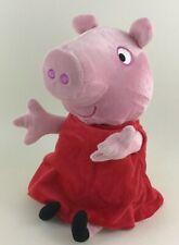 "Peppa Pig Hugs n Oink Talking Moving 10"" Stuffed Plush Toy Jazwares 2003 Tested"