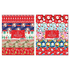Tallon 1485 50cmx50cm Christmas Flat Gift Wrap - 10 Sheets