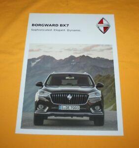 Borgward BX 7 2017 English Prospekt Brochure Depliant Prospetto Catalog Broschyr