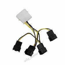 Molex 4Pin Male to 4x 3Pin Male PC Computer Fan Y Splitter Extension Cable Wire