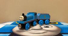 Thomas & Friends Wooden Railway Train - Edward w/ Tender (1997) No Stripes, GUC