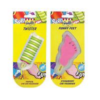 2 x Walls Ice Cream Lolly Car Home Air Freshener Freshner TWISTER + FUNNY FEET