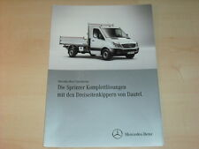 47848) Mercedes Sprinter Dreiseitenkipper Dautel Prospekt 09/2010