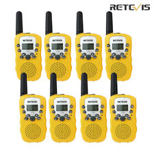 8 pcs Retevis Rt-388 Kids Toy Yellow Walkie Talkie Lcd+Flashlight 2-Way Radio Us