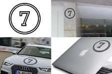 Number SEVEN sticker vinyl cut. Pegatina vinilo Numero 7 Version VIIa