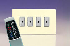 Varilight 4 Gang 1-Way TELECOMANDO/TATTILE Touch Control MASTER LED dimmer luce Svizzera