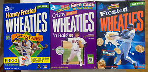 WHEATIES BOXES (Empty)NOLAN RYAN KEN GRIFFEY JR A-ROD - HALL OF FAME R'S G-VG