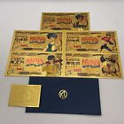 New Type 5 pcs Anime Ranma 1/2 Japanese Gold Banknotes for Fans Gift