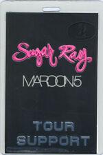 Maroon 5 2003 Tour Laminated Backstage Pass Sugar Ray