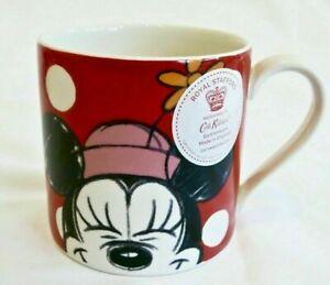 Cath Kidston Disney Minnie Mouse Mug Mickey Friends Red White Polka Dot Spot Cup
