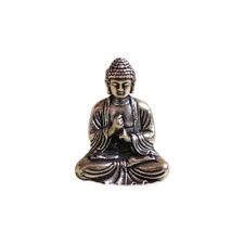 Chinese Buddhism Pure Copper Brass Bronze Sakyamuni Buddha Small Statue Gold