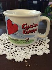 Curious George Large Coffee Mug 12 oz Fly Love Red Heart Balloon Kite Soup Cup