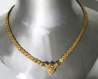 ANTIQUE VICTORIAN GOLD FILLED PLATED BOOK CHAIN NECKLACE