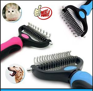 Dog Pet DEMAT Tool Cat Comb Brush Grooming Kit Undercoat Rake Demat Hair Tool