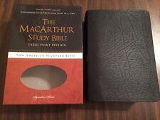 NASB MacArthur Study Bible Large Print - $89.99 Retail - Black Bonded Leather