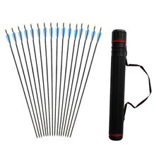 12x SP550 Archery Carbon Arrows Replacement Screw-in Point Tip Arrow Quiver Tube