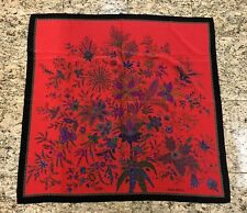 Jean Patou Red Flower Silk Scarf