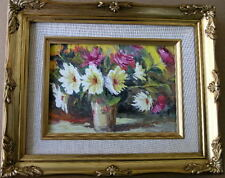 "Framed Oil Painting ""Floral-N12"" 9x11 in."