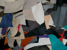 100+ pcs Various Colored Leather Remnants Scraps Various Thickness #2
