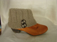 Warm Winter Wool Handmade Beige Boot Cuffs Legwarmers Crafted Birthday Gift Her