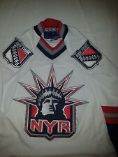 New York Rangers Jersey White Lady Liberty jersey CCM Mens Large L nhl 42  chest 840d0e0bf