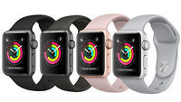 Apple Watch Series 3 GPS 38MM 42MM Aluminum and Stainless Case Sport Band