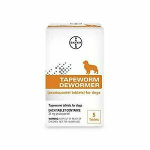 Bayer Tapeworm Dewormer for Dogs (5 Tablets)