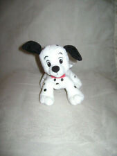 "DISNEY 101 DALMATIANS DOG PUPPY STUFFED PLUSH BLACK WHITE RED COLLAR CUTE 6"""