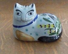 estate Vintage Tonala signed pottery Kitty CAT Owl foliage design Jalisco Mexico