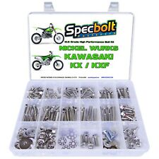 KX Nickel Wurks Bolt Kit Kawasaki 65 80 85 100 125 250 450 500 KX125 KX250 KX500