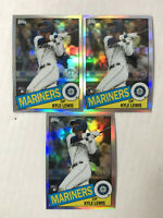 KYLE LEWIS LOT OF 3 2020 Topps Chrome 35th 1985 SILVER SP RC REFRACTORS! QTY!!!!