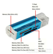 USB 2.0 All in 1 Multi Memory Card Reader for Micro SD SDHC MS TF SD M2 MMC