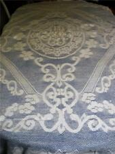 FABULOUS WHITE COTTON CHROCHETED LACE TABLECLOTH PRE-LOVED