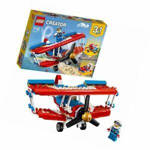 LEGO 31076 Creator 3-IN-1 Model Daredevil Stunt Plane Rocket Car & Boat Toy Set