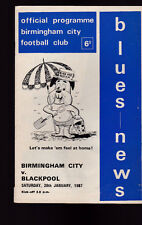 Birmingham City v Blackpool Official Programme January 28 1967 Blues News Soccer